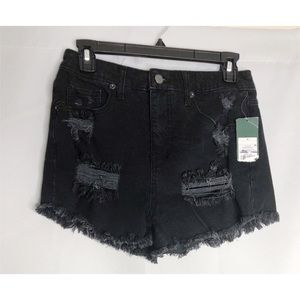 New wild fable high rise jean shorts black 4